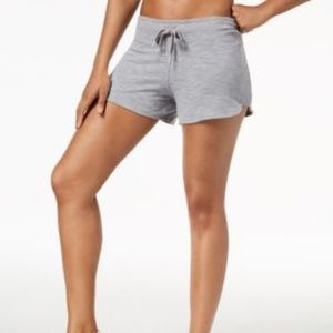 Calvin Klein Curved-Hem Shorts Pearl Grey Heather